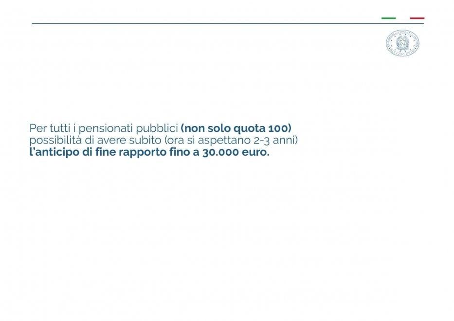 Reddito di cittadinanza e quota 100 - slide