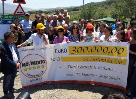 Il Movimento 5 Stelle Sicilia finanzia con 300.000 euro la bretella per sopperire al crollo del ponte della A19 di 2 mesi fa