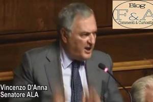 """""""Vergognati tu e i quattro pezzenti che rappresentate, sei un cretino e nullafacente"""". Bagarre in senato D'Anna (ALA) Vs Castaldi (M5S)."""
