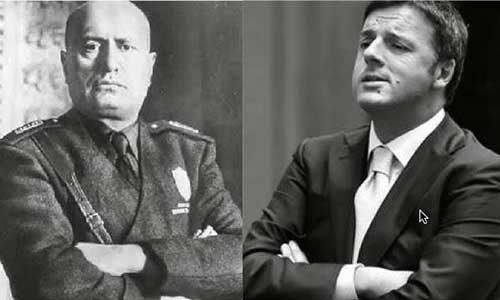 Mussolini non arrivò mai a tanto: Renzi minaccia il presidente del Senato Grasso.