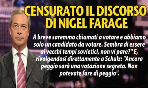 """Nigel Farage Shock al Parlamento Europeo: """"Colpo di Stato alle democrazie nazionali"""""""