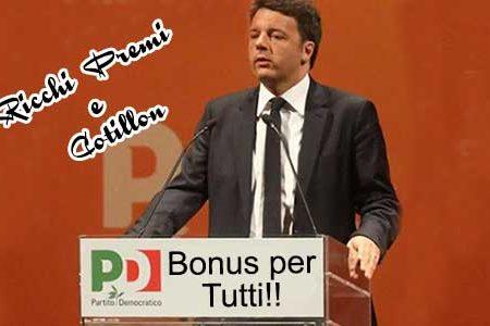 """Renzi: prima delle elezioni """"ricchi premi e cotillon"""""""