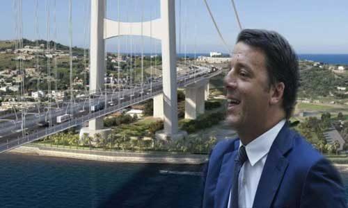 Ponte sullo Stretto: Renzi peggio di Berlusconi promette l'impossibile