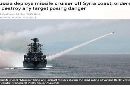 """Jet abbattuto. Putin: """"Distruggeremo qualsiasi cosa possa rappresentare una minaccia"""""""