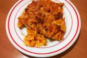 """Farfalle gratinate al forno di """"Zia Pina"""""""