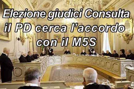 Giudici Consulta: possibile un accordo tra M5S e PD
