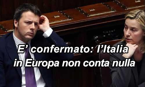 Mogherini fatta fuori dal vertice Libia e Renzi…