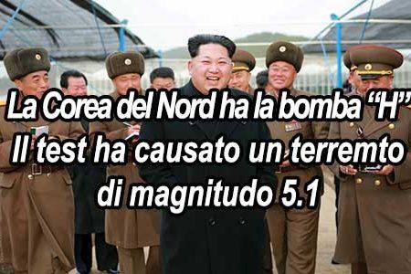 """Kim Jong-un: la Corea del nord ha la bomba """"H"""", siamo tra gli Stati nucleari"""