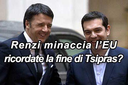 Renzi minaccia Junker: ricordate Tsipras?