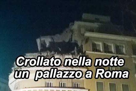 Crollano nella notte due piani di una palazzina a Roma