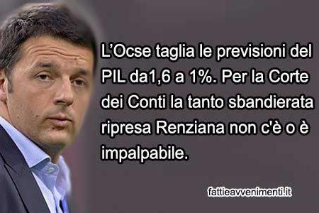Ocse e Corte dei Conti, stroncano Renzi