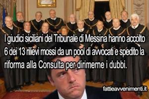 Il tribunale di Messina rinvia alla Consulta l'Italicum: dubbio di costituzionalità