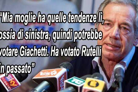Bertolaso getta la maschera: mia moglie voterebbe Giachetti