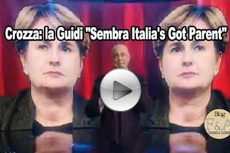"""Crozza: la Guidi """"Sembra Italia's Got Parent"""""""