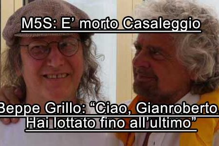 Gravissimo lutto nel M5S: E' morto Gianroberto Casaleggio