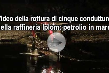 Disastro a Genova: Si rompe tubatura petrolio. VIDEO