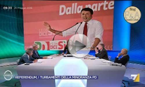 """Cuperlo all'attacco del referendum: se a ottobre vince il """"SI"""" , Renzi non si ferma più – VIDEO"""