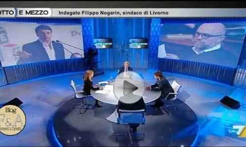 """Di Battista  a """"8 e mezzo""""risponde sul caso Nogarin – VIDEO"""
