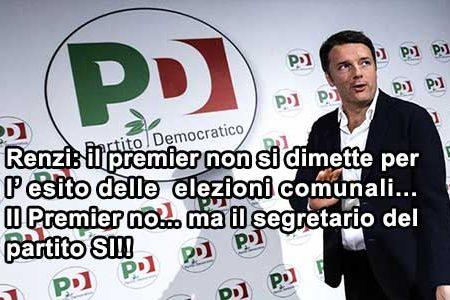 Renzi: se perdo le comunali non mi dimetto, ma…
