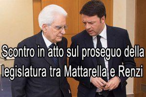 Renzi rassicura Mattarella: ho i numeri vado avanti