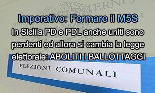 "Ai ""ballottaggi"" i 5Stelle sono imbattibili? In Sicilia PD e PDL li eliminano"