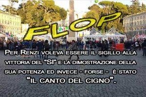 Manifestazione del Si. Flop del PD: piazza del Popolo semi vuota