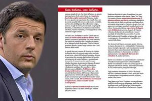Lettera di Renzi agli italiani all'estero: quando l'indecenza diventa quotidianità