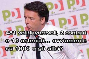 """È tornato Matteo lo """"spaccone"""", ieri ha vinto nella direzione PD con 481 voti su mille: la solita vittoria di Pirro"""