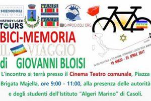 Il Bici-Memoria di Bloisi passa a Casoli