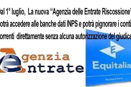 """Dal 1° luglio,  La nuova """"Agenzia delle Entrate Riscossione"""" sostituirà Equitalia: Per Renzi è una cosa positiva… gli utenti la pensano diversamente"""