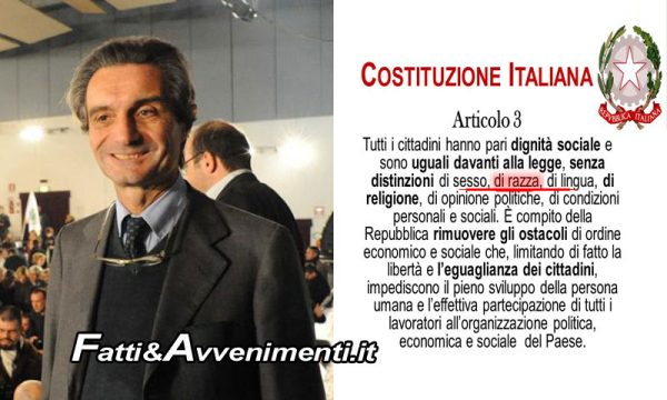 Immigrazione, caso Fontana(Lega). Anche la Costituzione Italiana è razzista?