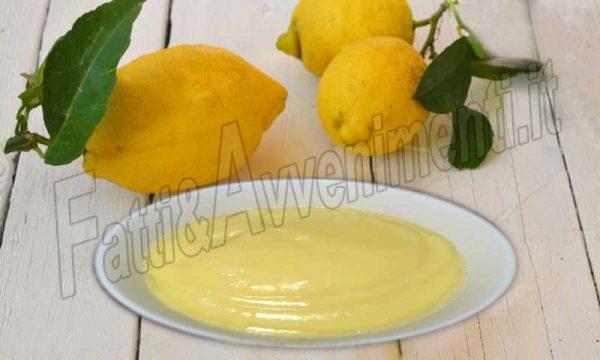 Crema al limone senza latte- Ricetta siciliana