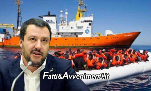 """Salvini chiude i porti italiani e invia lettera a Malta: """"Accogliete la nave Aquarius con i Migranti"""""""