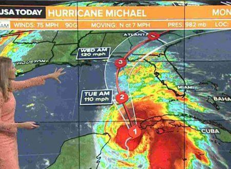 """USA. L'uragano Michael adesso fa paura e punta sulla Florida, Rick Scott: """"Fuggite via, è mostruoso"""""""