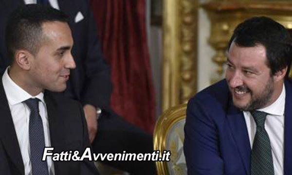 """Il Governo invia il DPB. Salvini e Di Maio soddisfatti avvertono  l'UE: """"non provate ad intimidirci"""""""
