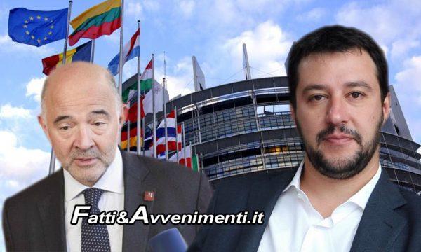 """L'UE boccia manovra Italia: """"Gravi violazioni"""", Salvini: """"Noi andiamo avanti, diamo a UE 5 miliardi in più di quanti ne tornano"""""""