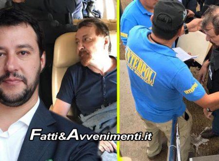 """Decollato l'aereo che porterà Battisti in Italia, Salvini: """"Finirà la sua vita in galera"""" – FOTO"""
