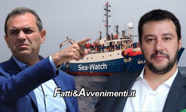 """Migranti. De Magistris: """"Pronti ad accogliere la SeaWatch"""", Salvini: """"Porti restano chiusi, se non ti piace dimettiti"""""""