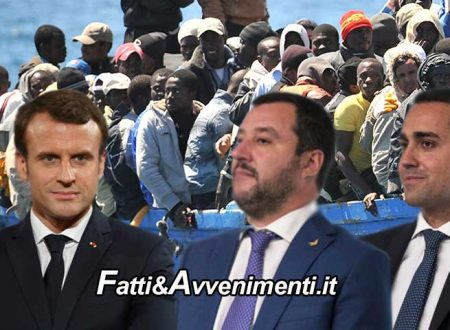 """Tra Italia e Francia è scontro sui migranti. Di Maio e Salvini concordi: la colpa è di Macron e del """"colonialismo"""""""