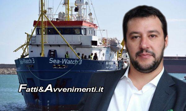 """Sea Watch. Sbarcano a Malta 49 migranti, Salvini: """"Cedere a minacce di UE e Ong è segnale di debolezza"""""""