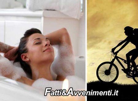 Salute & Benessere. Un bagno caldo fa dimagrire quanto un giro in bici? Ecco gli effetti reali